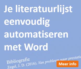 Literatuur automatiseren met Word