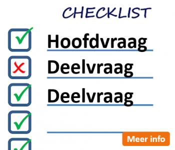 Afstudeergoeroes.nl - Checklist hoofdvraag en deelvragen
