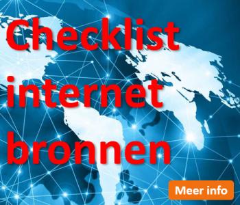 Afstudeergoeroes.nl - Checklist internetbronnen